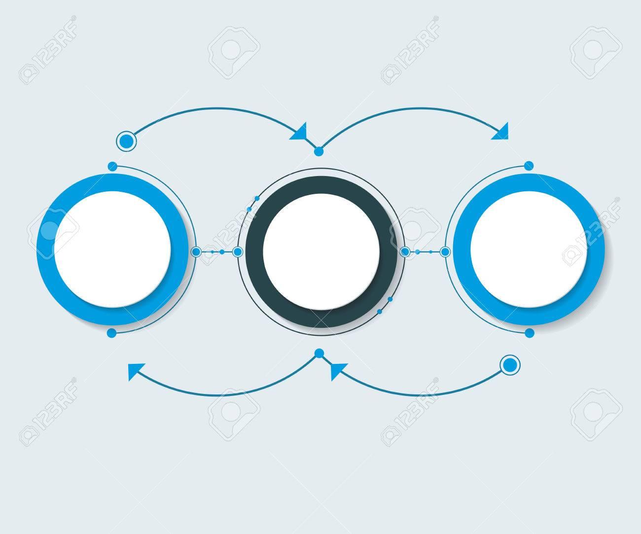 Moléculas Abstractas Del Vector Con Etiqueta De Papel 3D, Círculos ...