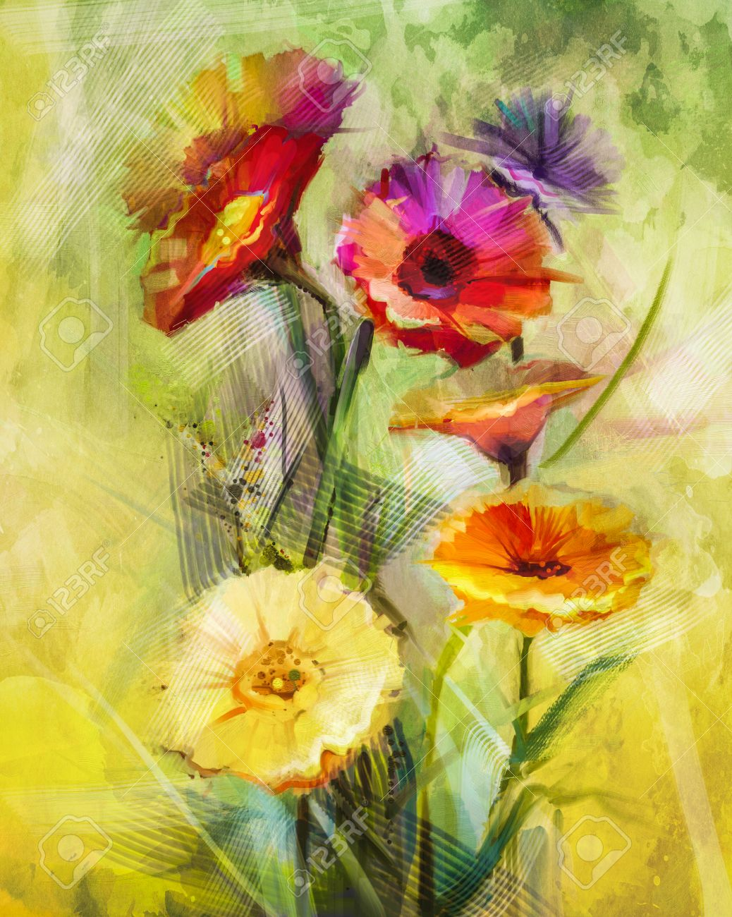 Flower Painting Stock Photos. Royalty Free Flower Painting Images