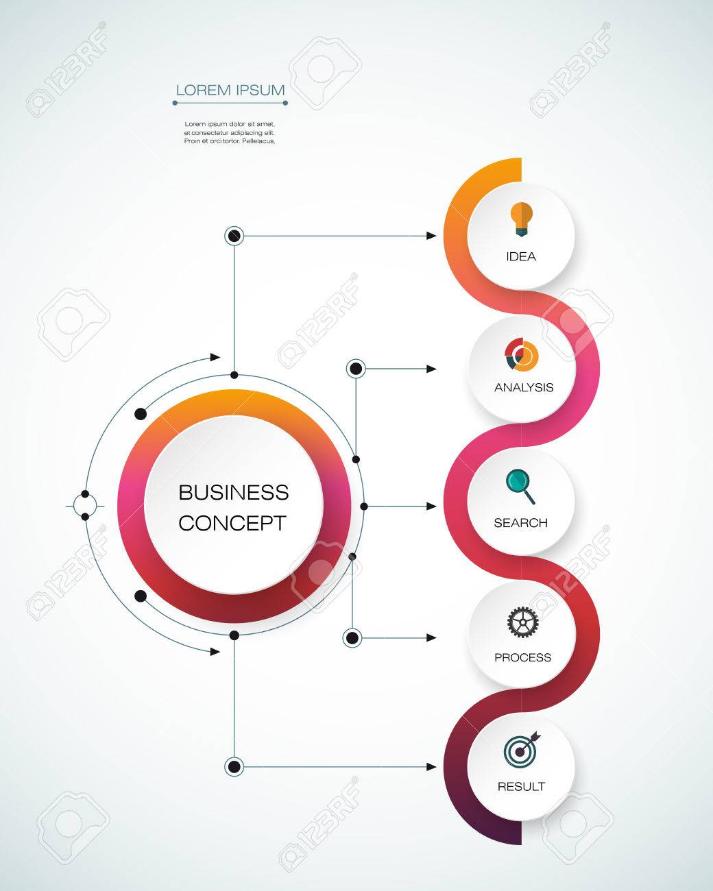 Vector infographic template with timeline 3d paper label integrated vector infographic template with timeline 3d paper label integrated circles business concept with options wajeb Choice Image
