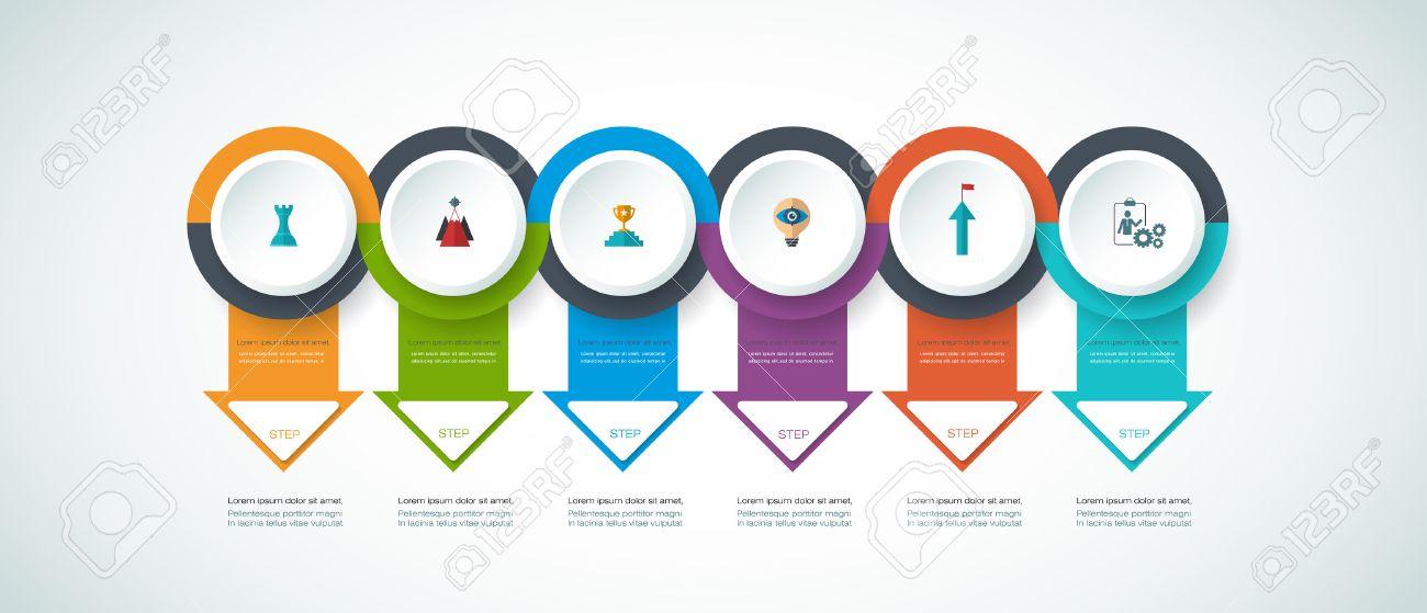 Linea De Tiempo Infografía Vector Plantilla De Diseño Con Etiqueta ...