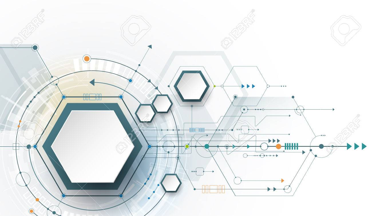 Hi-tech digital technology and engineering, digital telecom technology concept. Vector abstract futuristic on white gray color background - 72335572