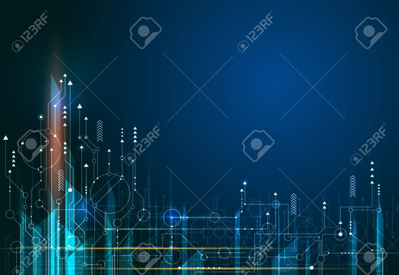 Vector Abstract, science, futuristic, energy technology. - 76694000