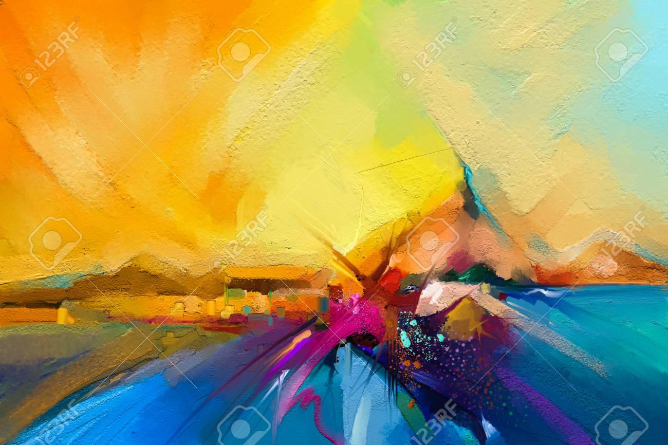 Modern Art Seascape Abstract