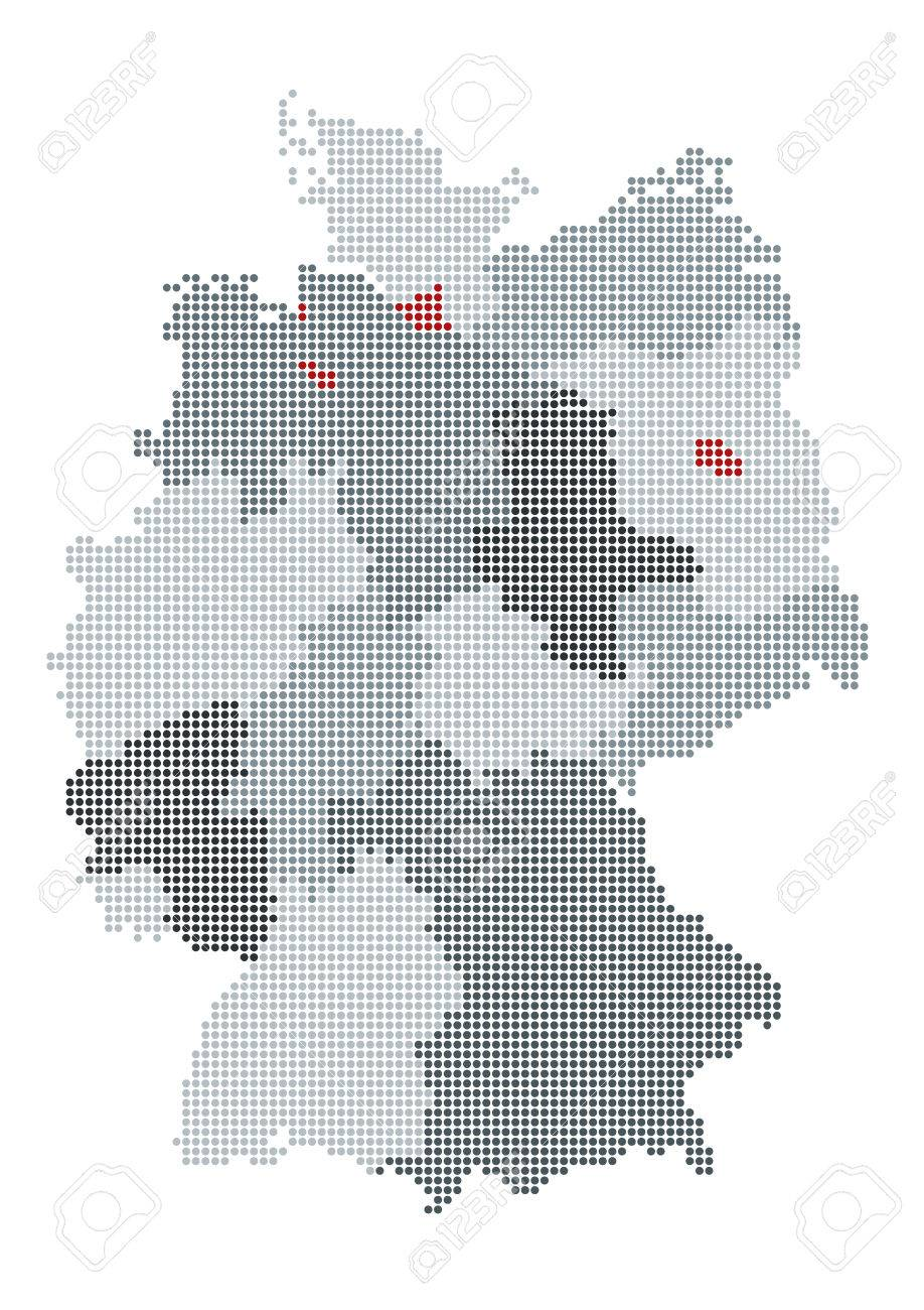 Graphical German Map Royalty Free Cliparts Vectors And – German Map