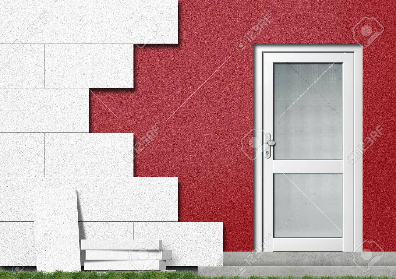Energy efficiency by isolating a house Stock Photo - 7920020