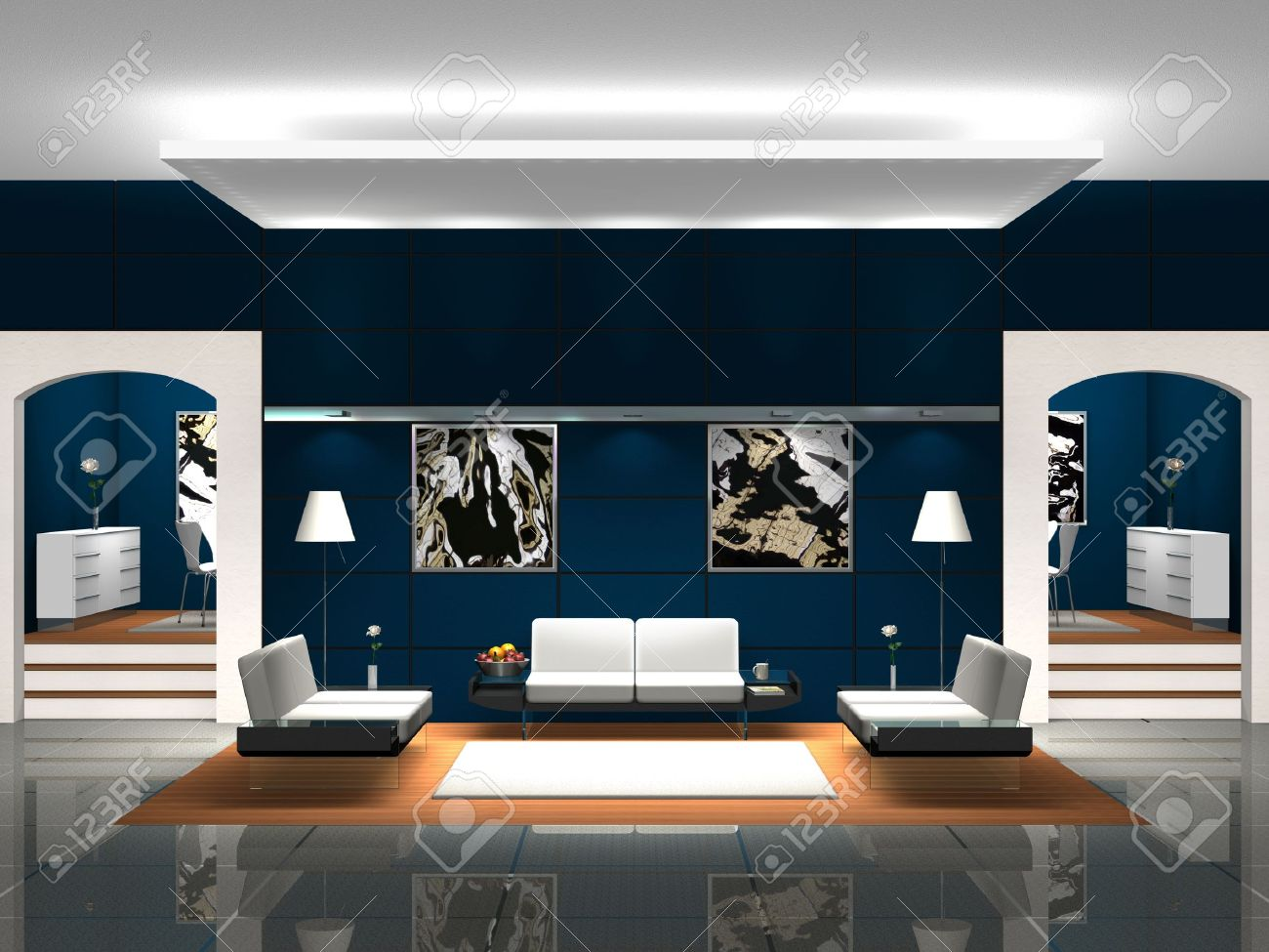 blue lobby stock photo, picture and royalty free image. image