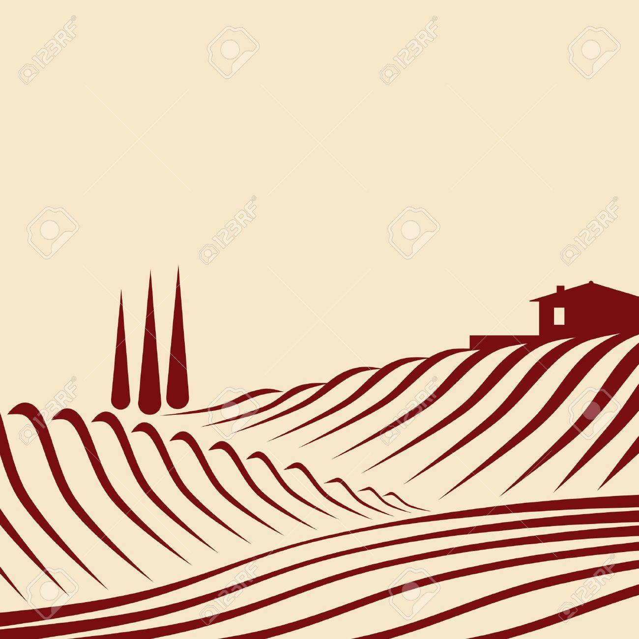 agricultural landscape Stock Vector - 10823451