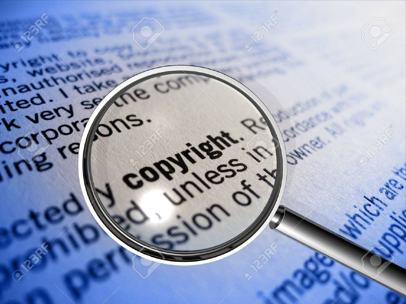 copyright in focus Stock Photo - 12638086