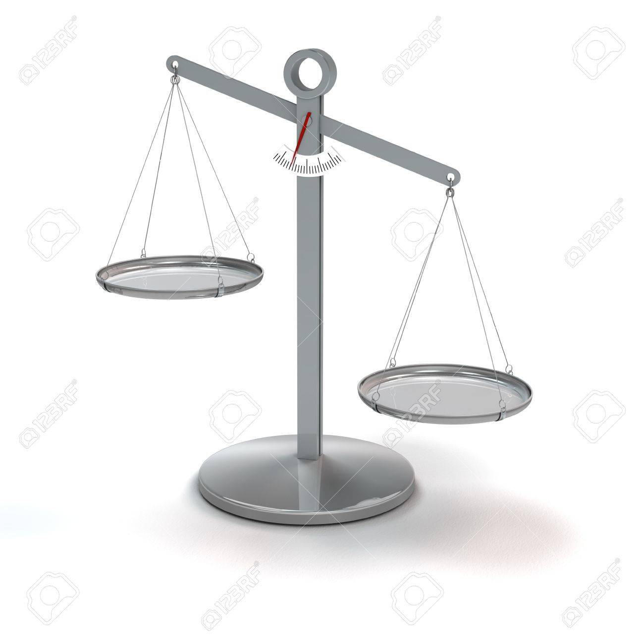 scale not in balance - rendering Stock Photo - 16262909