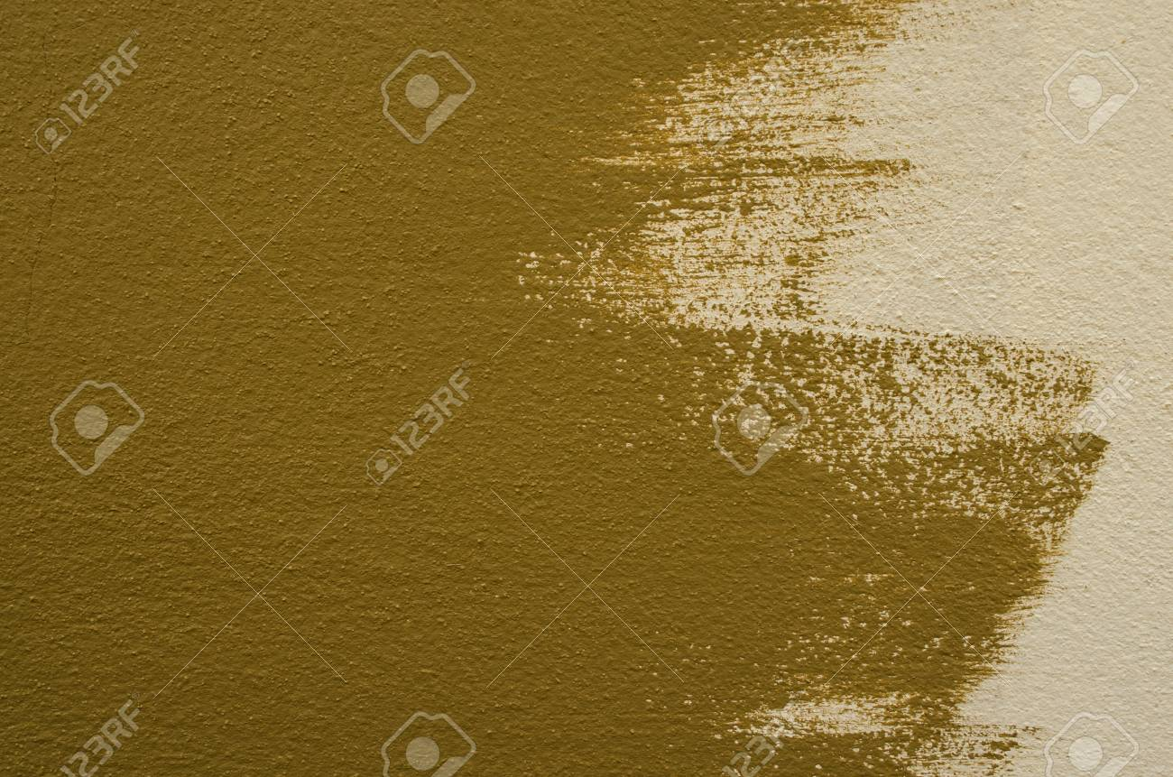 Olive-green And Cream Color On Wall Stock Photo, Picture And Royalty ...