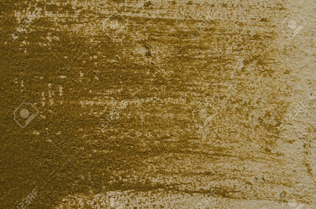 Olivgrün Und Creme Farbe An Der Wand Standard Bild   25679077