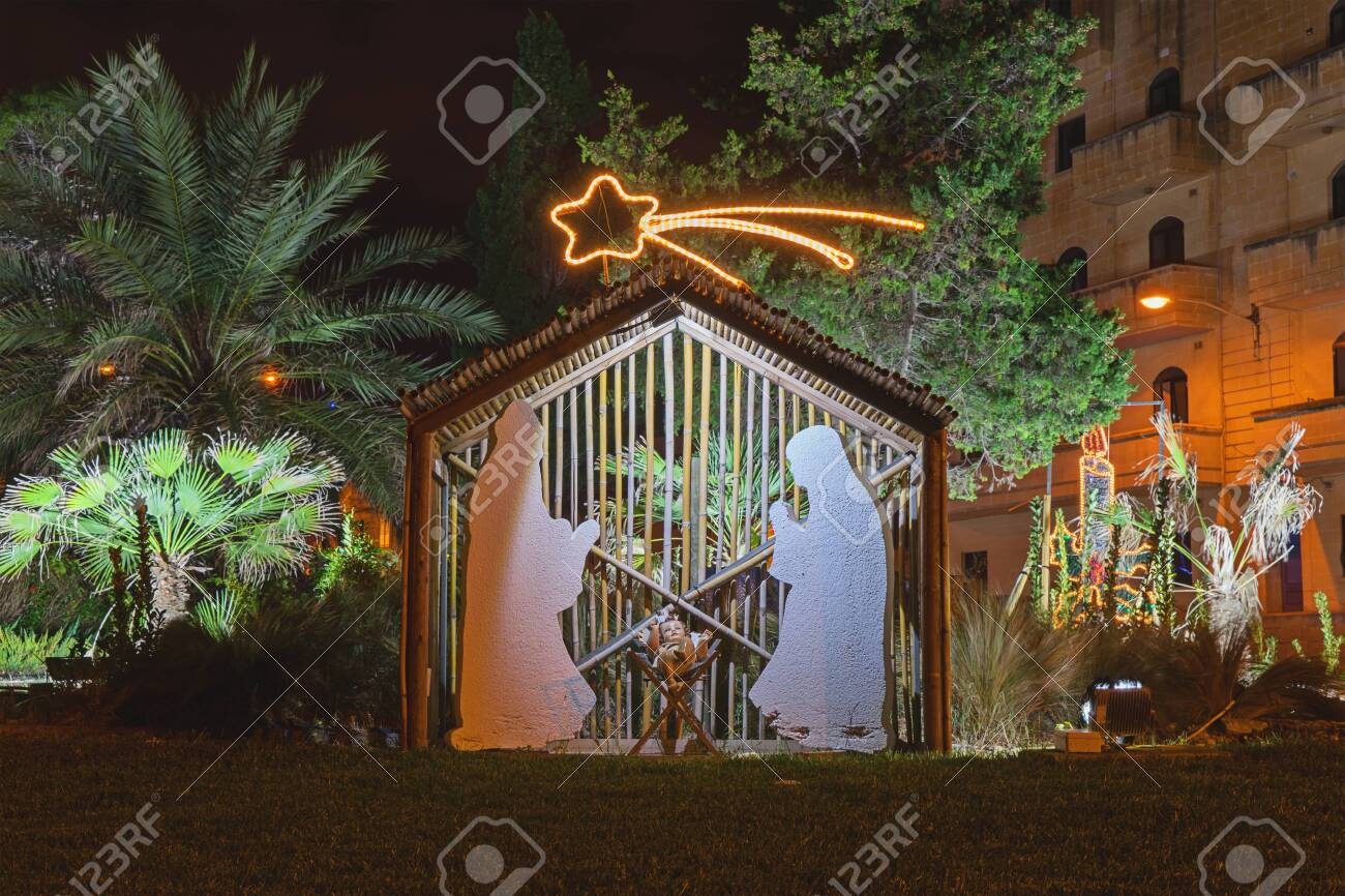 Christmas Jesus Birth Images.Christmas Installation On Theme Of Birth Of Jesus Christ Shadow