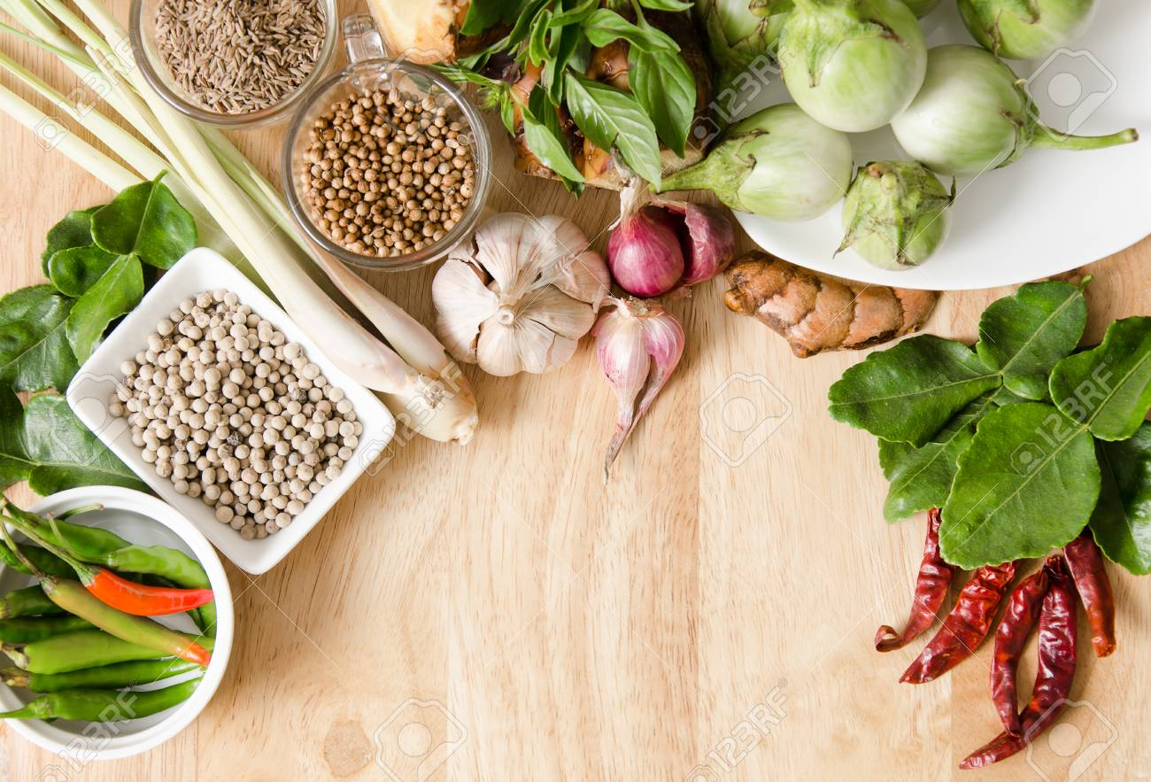 Thai food ingredientsspices and herb for spicy curry cooking stock stock photo thai food ingredientsspices and herb for spicy curry cooking forumfinder Choice Image