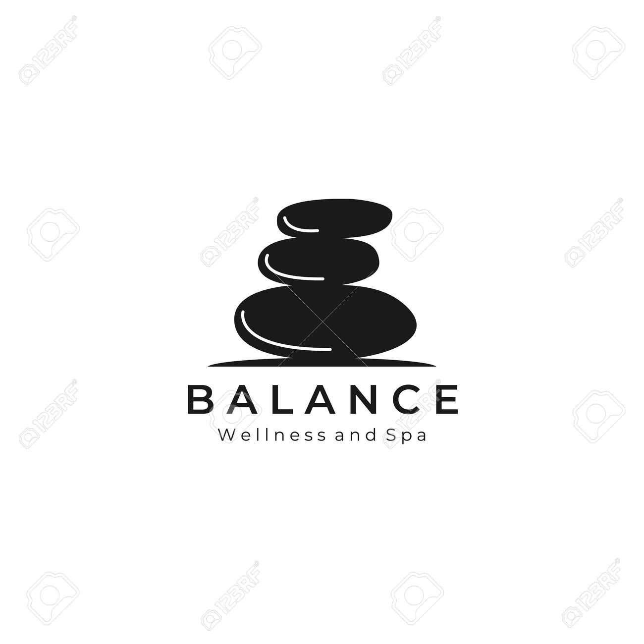 balance stone vintage logo vector illustration template design - 164869297