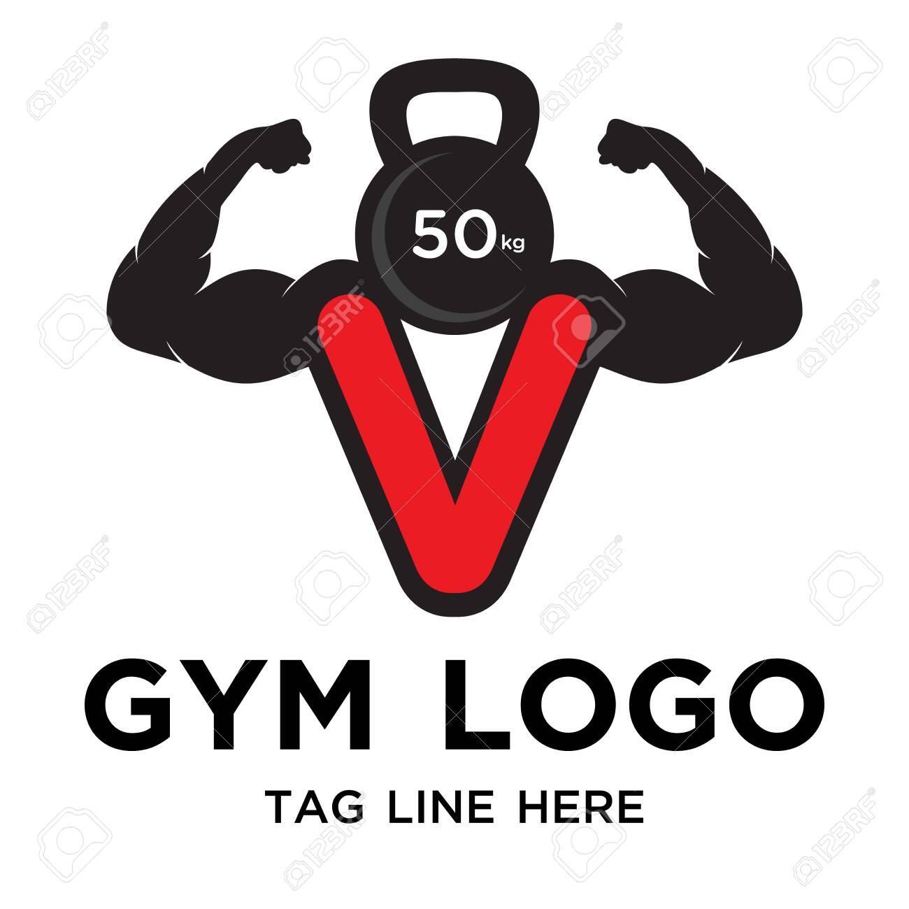 strong gym logo design simple - 150018266