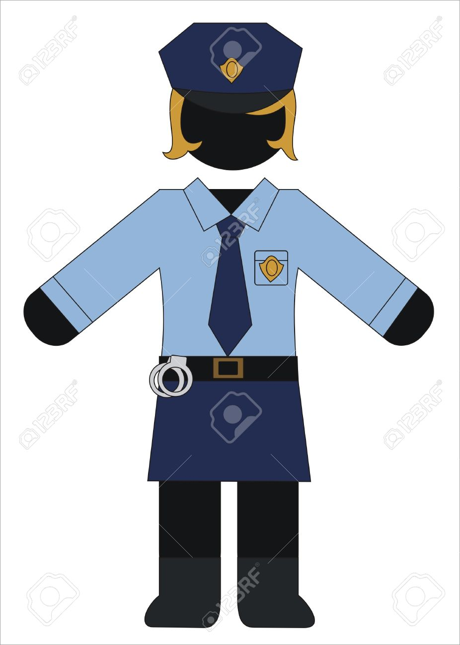 police woman in uniform working Stock Vector - 9692604