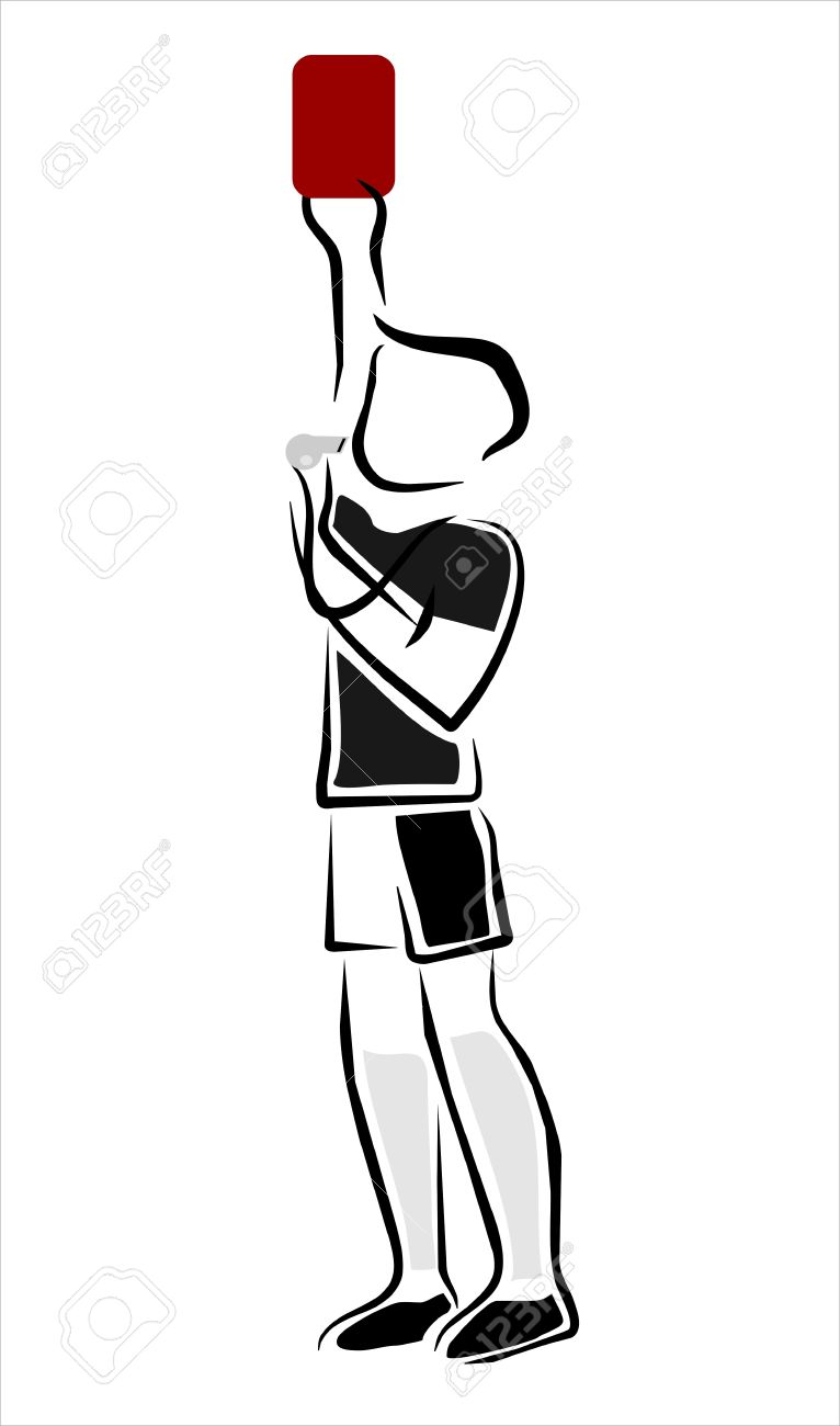 referee removing red card in a game of football Stock Vector - 12884396