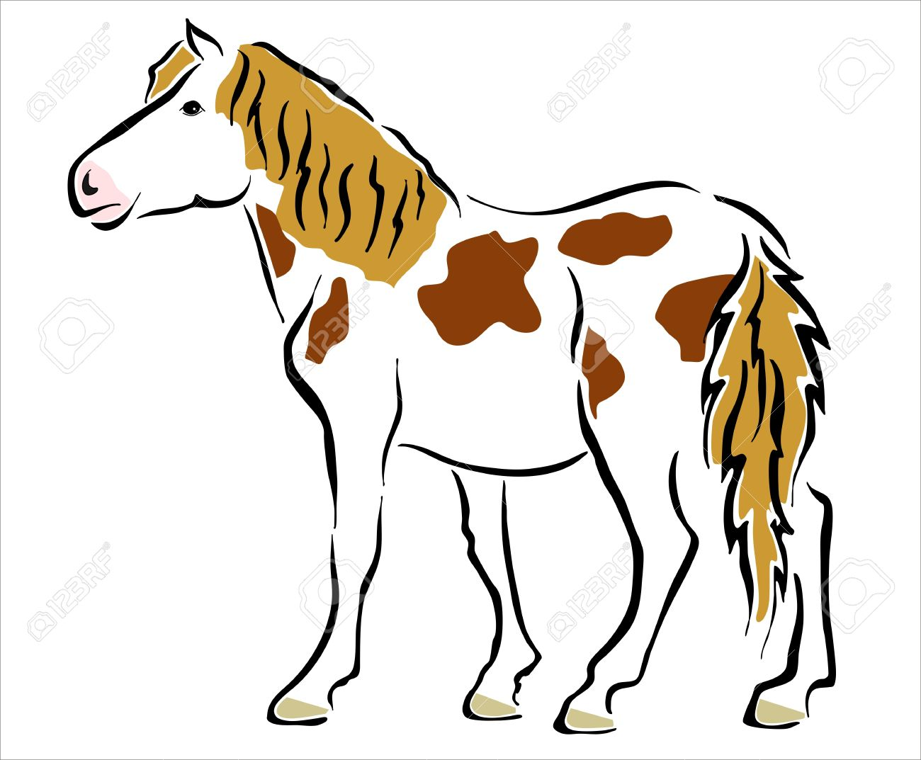 Uncategorized Picture Of A Pony drawing of a pony royalty free cliparts vectors and stock vector 15327715