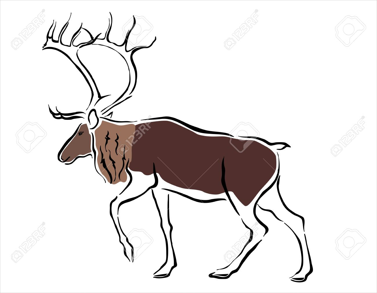 Uncategorized Drawing Of A Reindeer drawing of a reindeer royalty free cliparts vectors and stock vector 15526669