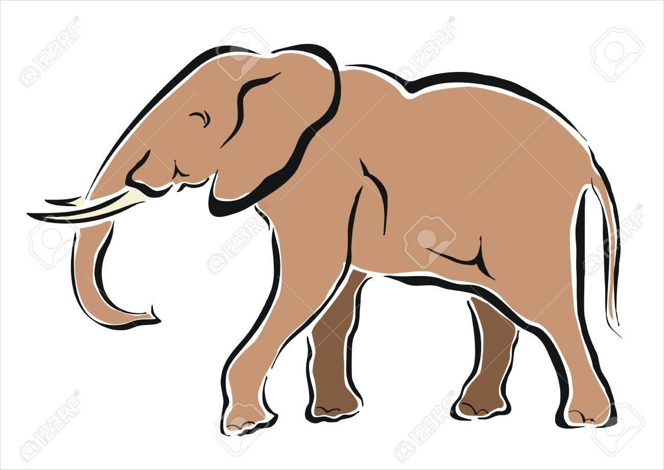 Dessin D Un Éléphant dessin d'un éléphant d'afrique clip art libres de droits , vecteurs