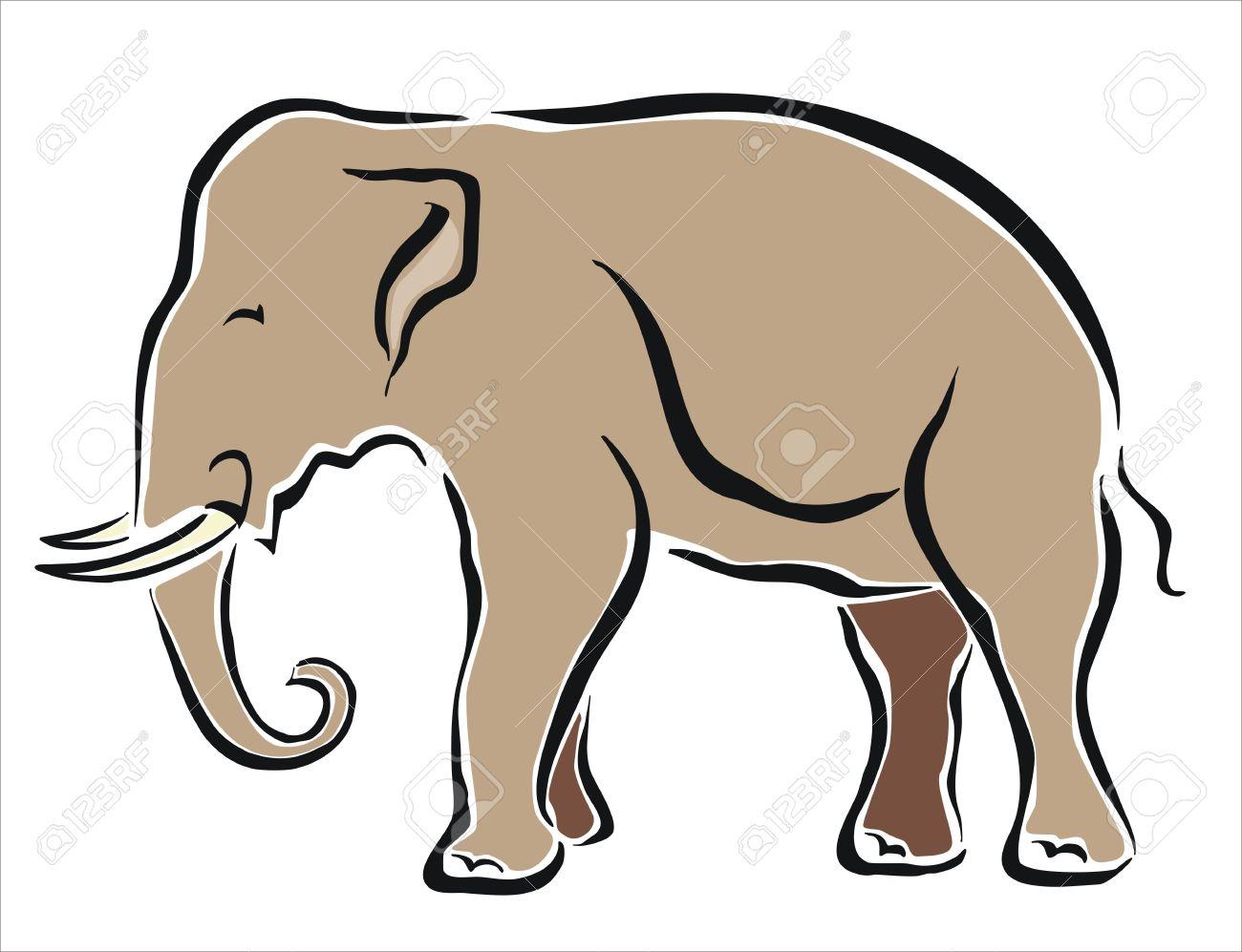 Dessin D Un Éléphant dessin d'un éléphant asiatique clip art libres de droits , vecteurs