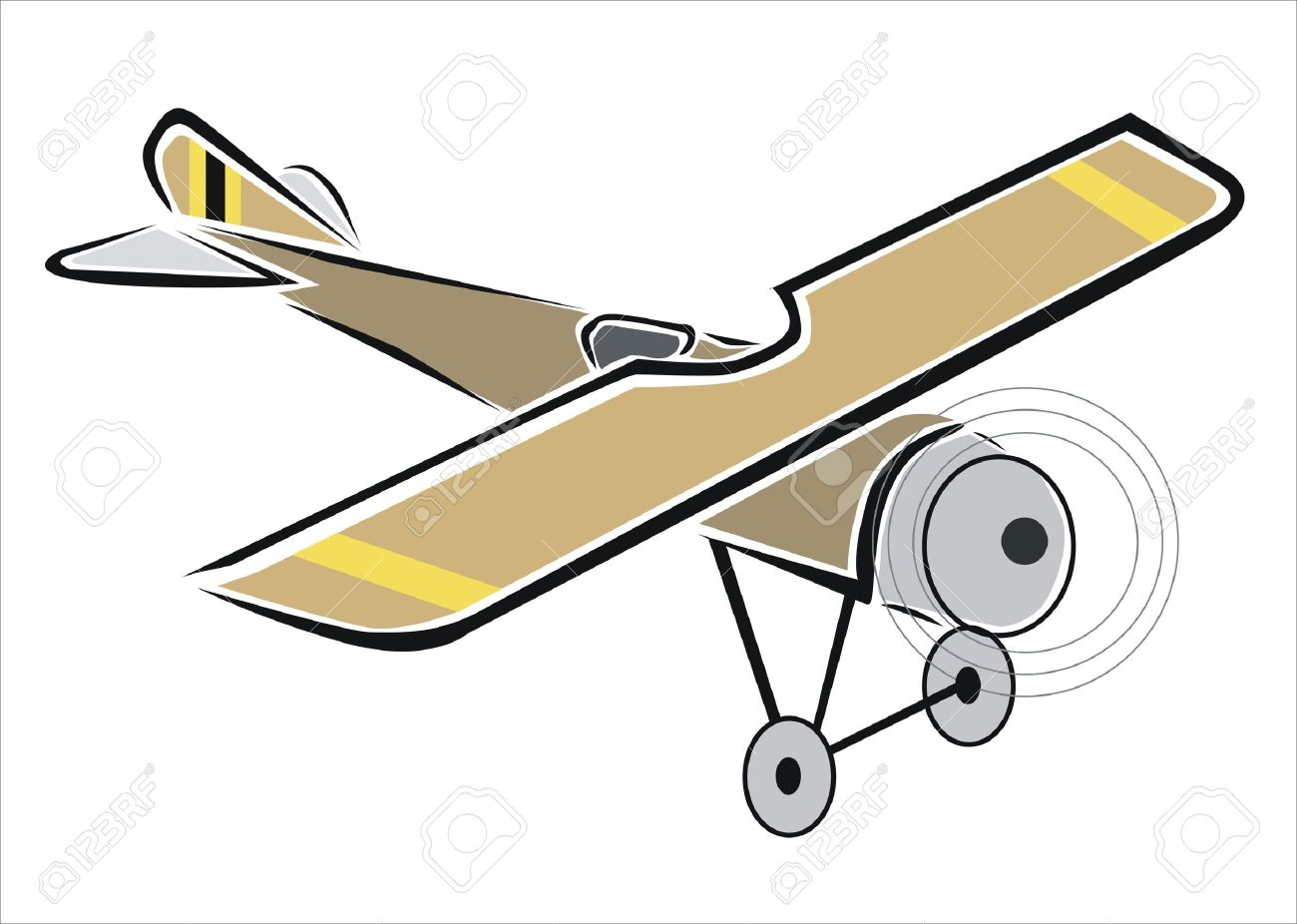 Drawing Of An Old Plane Royalty Free Cliparts Vectors And Stock