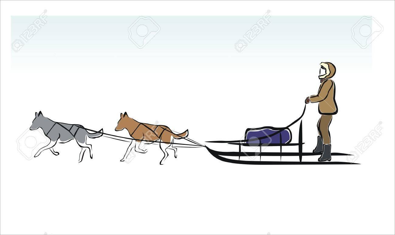 578 dog sled stock vector illustration and royalty free dog sled