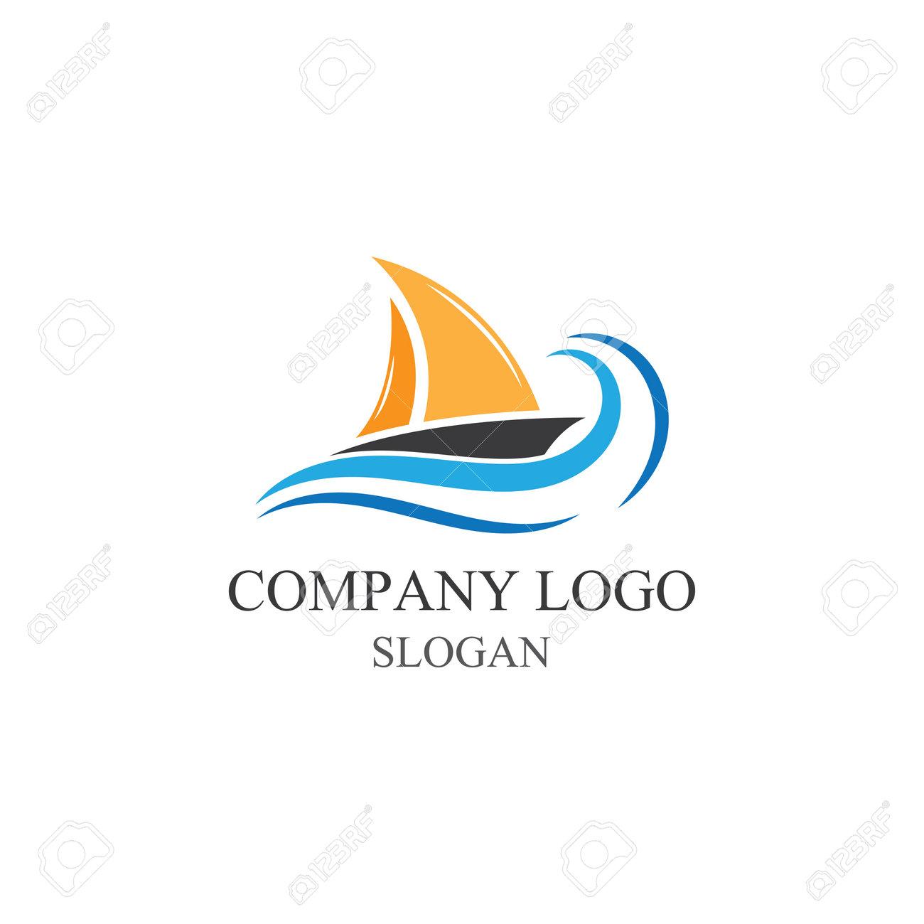Traditional Sailboat logo design vector - 168445373