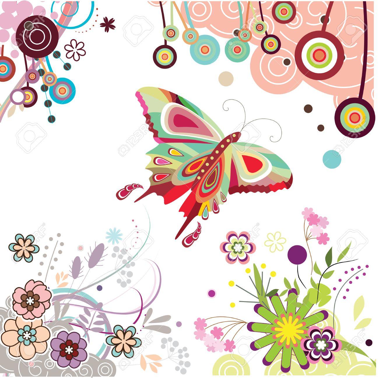 butterfly cartoon stock photos royalty free butterfly cartoon