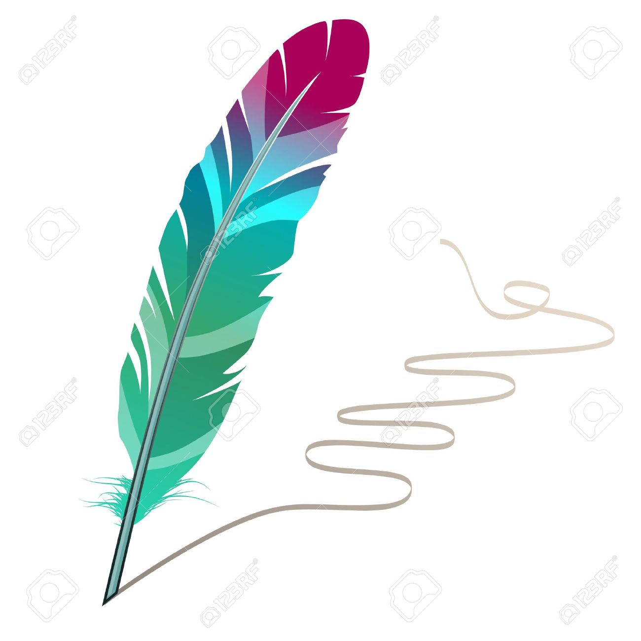 Many-coloured feather Stock Vector - 8380140