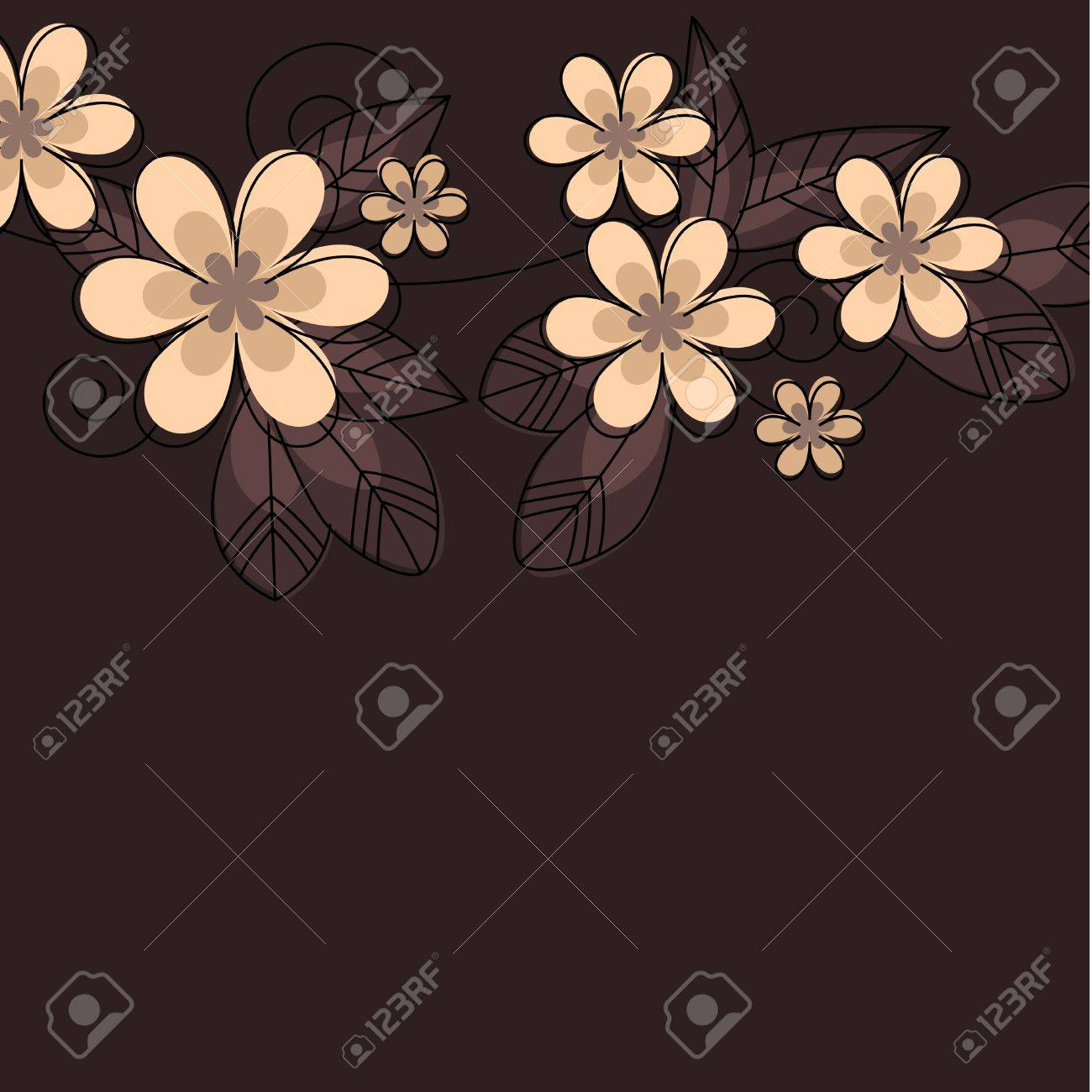 Stylized abstract contour flowers Stock Vector - 8380141