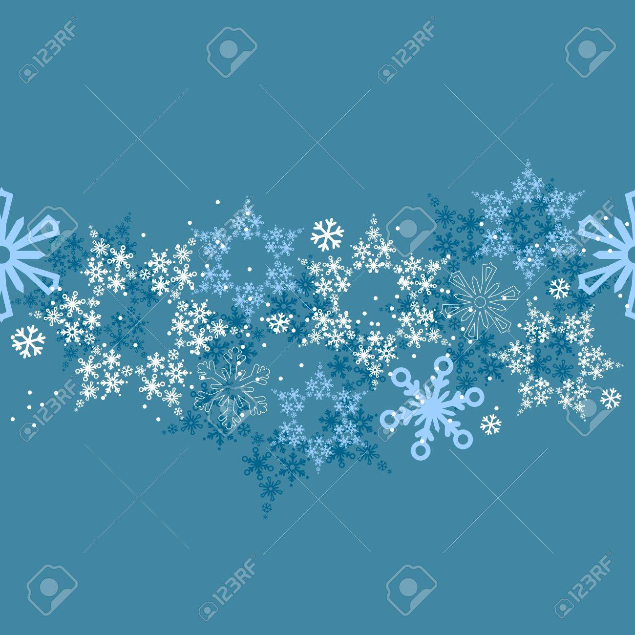 Seamless border with snowflakes Stock Vector - 8460782