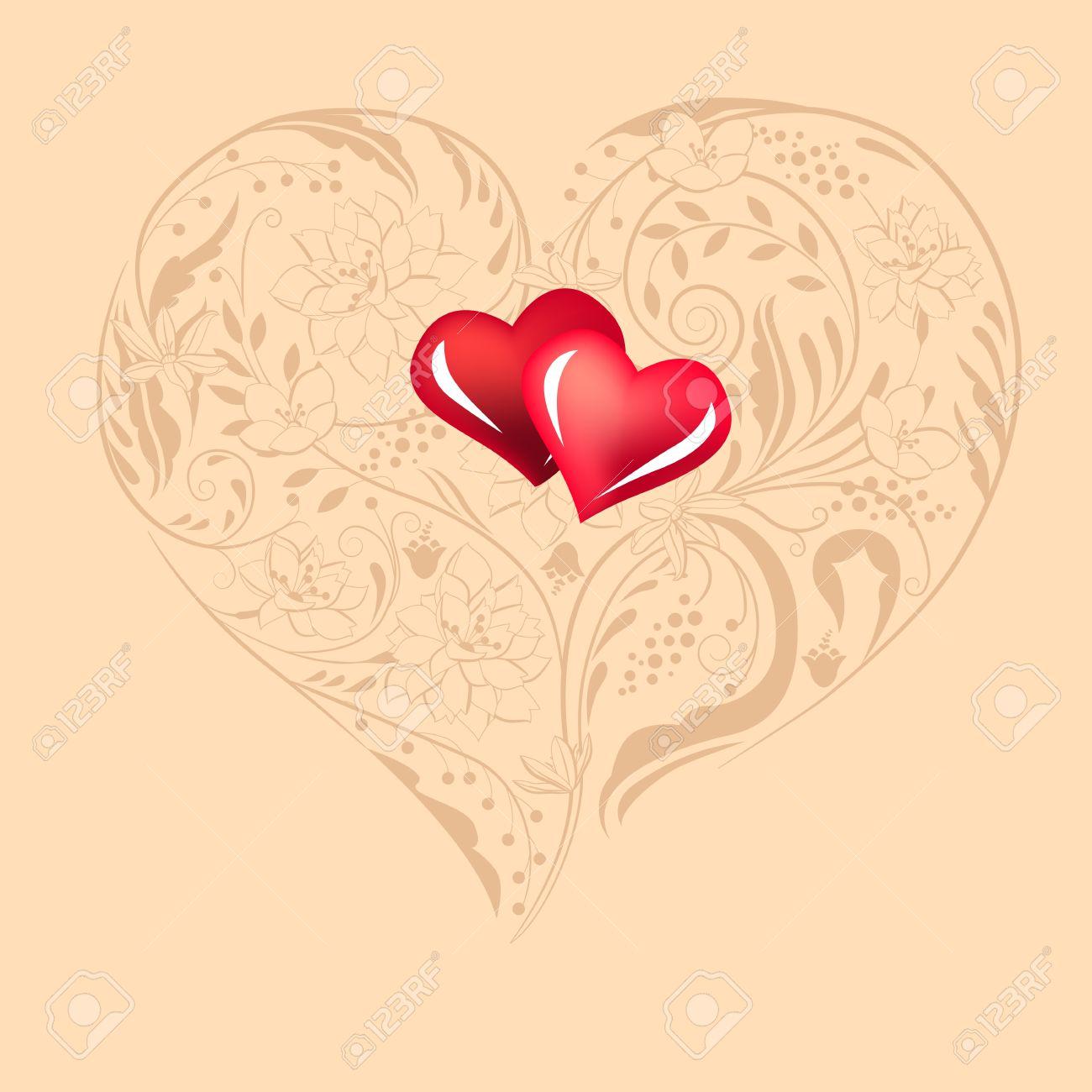 Heart shape made of flowers Stock Vector - 8584412