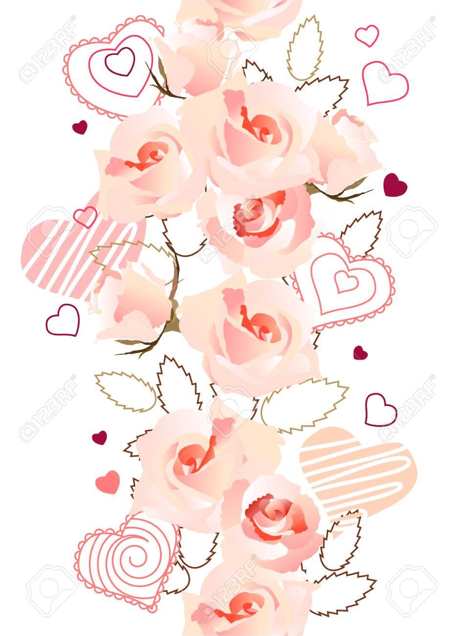 Vertical seamless rose pattern Stock Vector - 8614543