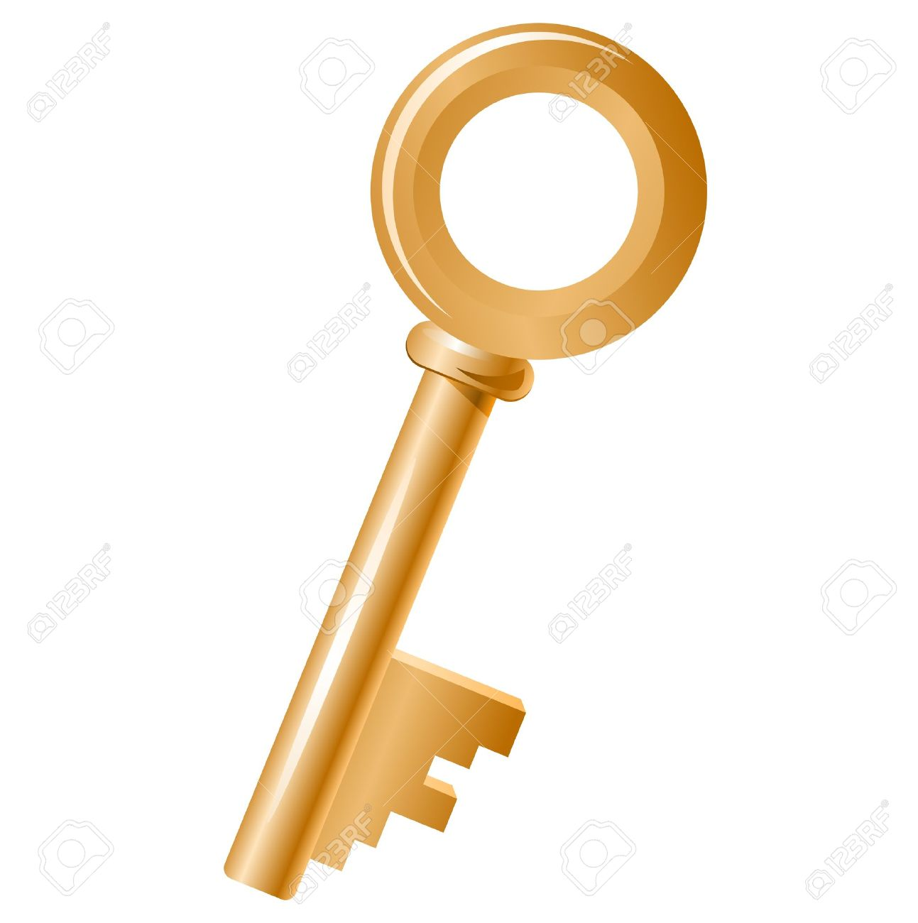 With golden key 3d rendering plan concept with golden key 3d rendering - Golden Key Golden Key Isolated Illustration