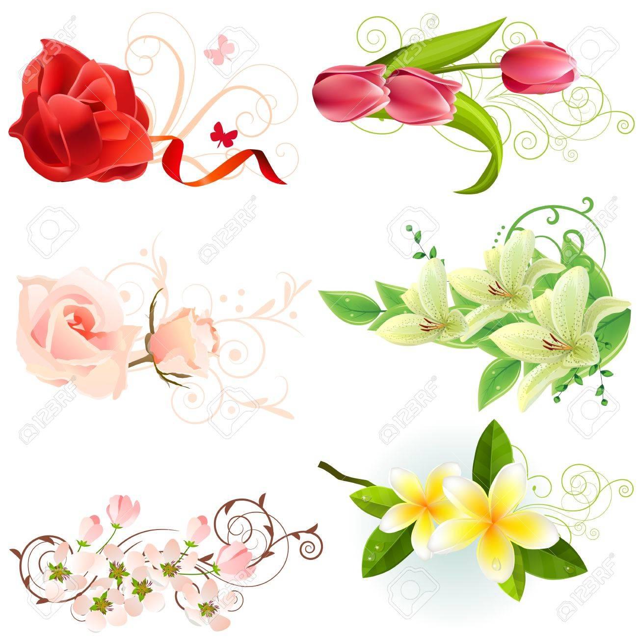 Floral design elements royalty free cliparts vectors and stock floral design elements stock vector 8714538 dhlflorist Images