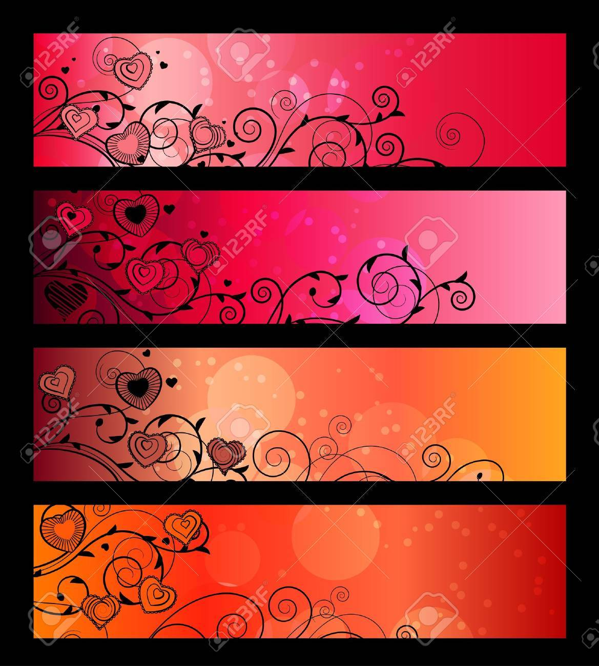 Banners, headers with floral elements Stock Vector - 8813978