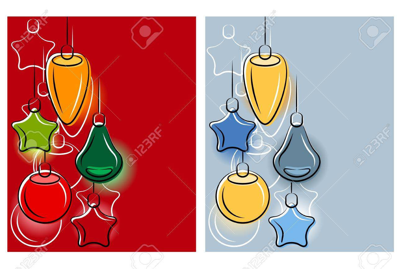 Background with stylized hanging Christmas balls. Stock Vector - 10480581