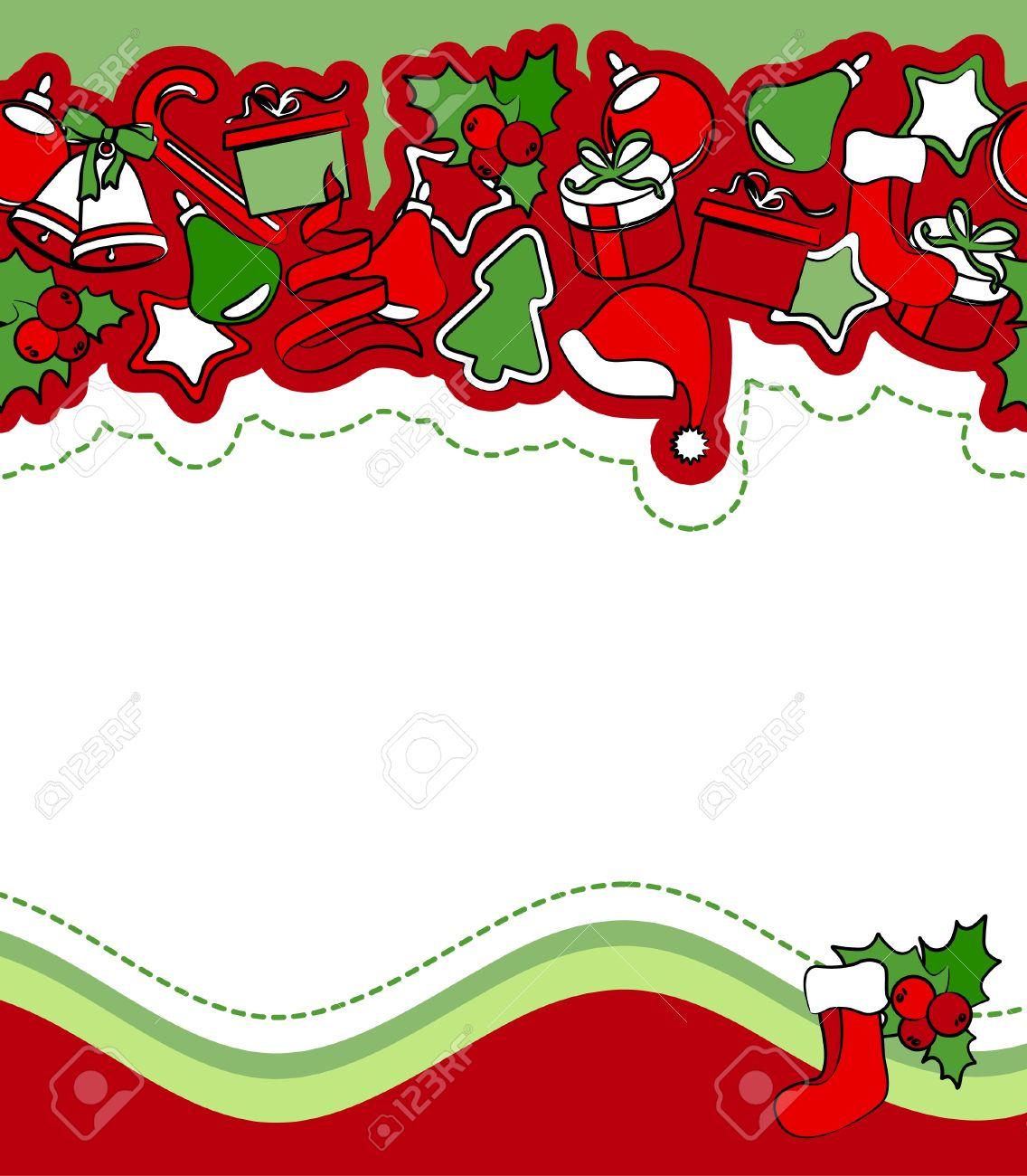 Christmas Greeting Card Royalty Free Cliparts, Vectors, And Stock ...