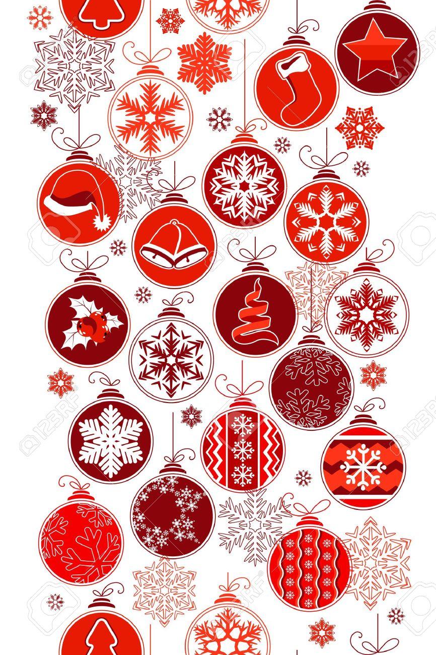 Christmas vertical seamless border with balls Stock Vector - 10563988