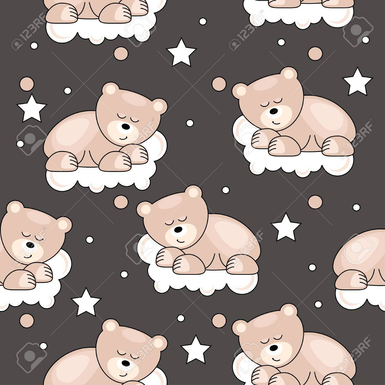 Seamless pattern with small bear Stock Vector - 10761958