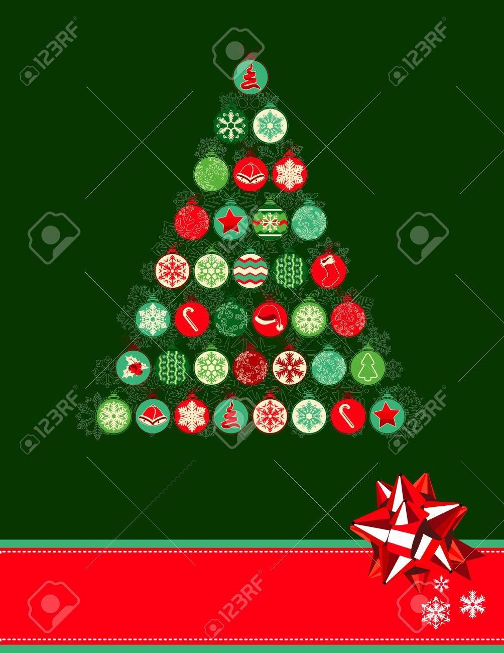 Christmas Tree Made Of Balls Stock Vector