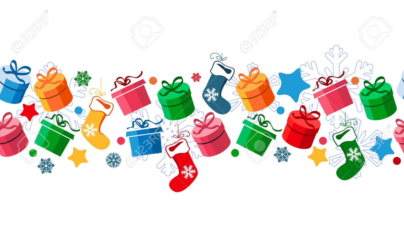 Border With Christmas Gift Boxes Royalty Free Cliparts, Vectors ...
