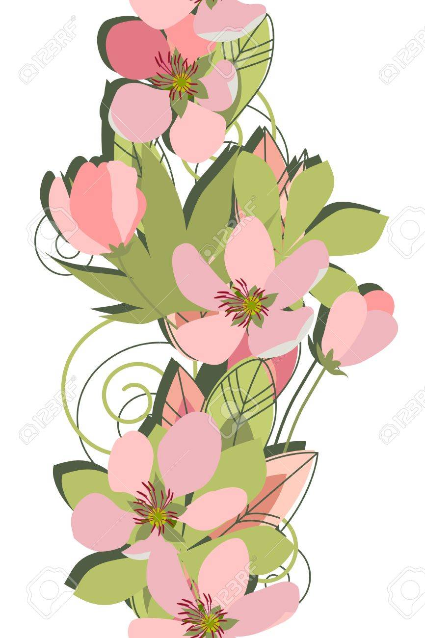Stylized branch of apple tree Stock Vector - 11002763
