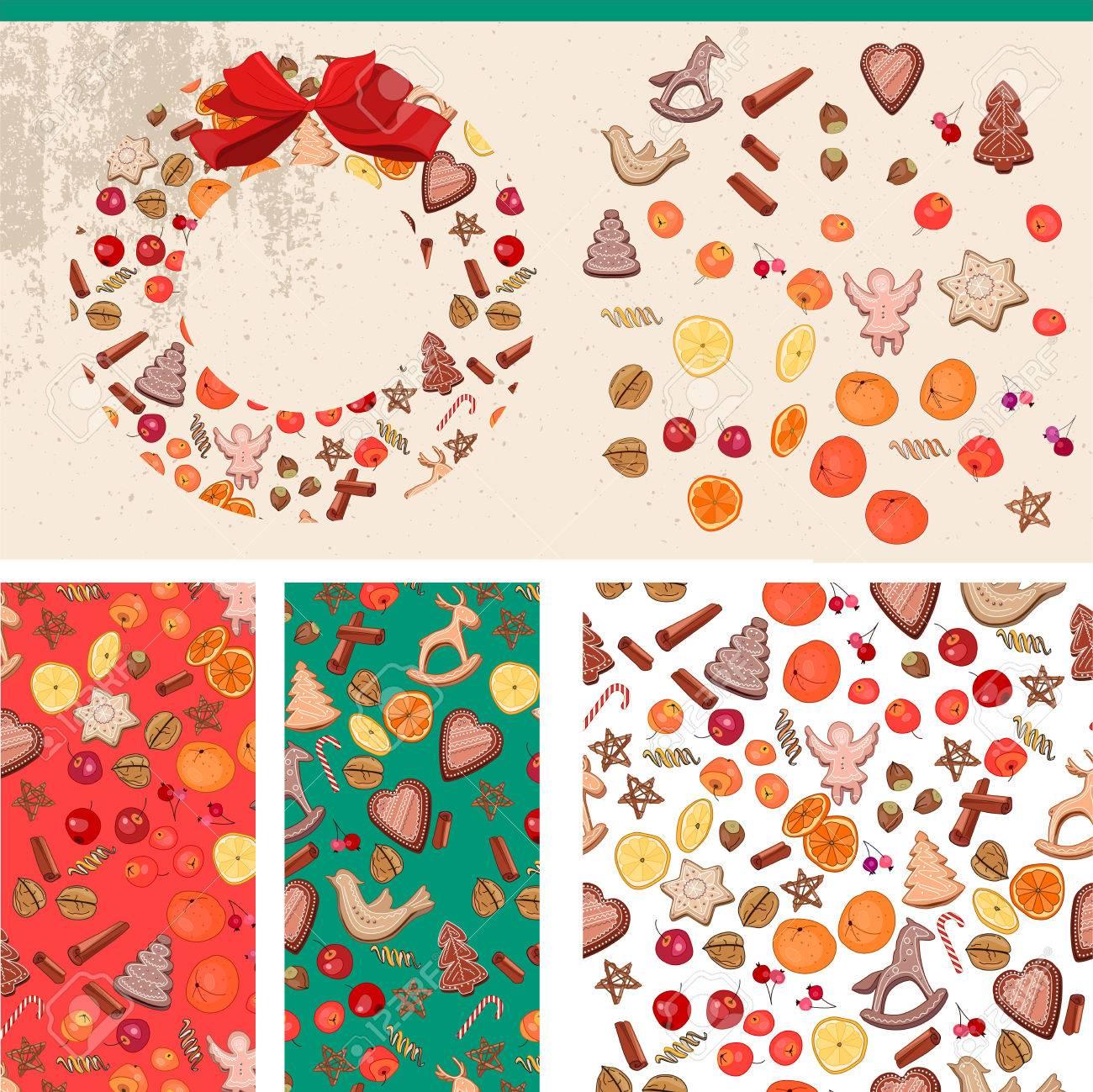 foto de archivo set con las plantillas de comida de navidad por diseo festivo anuncios postales carteles