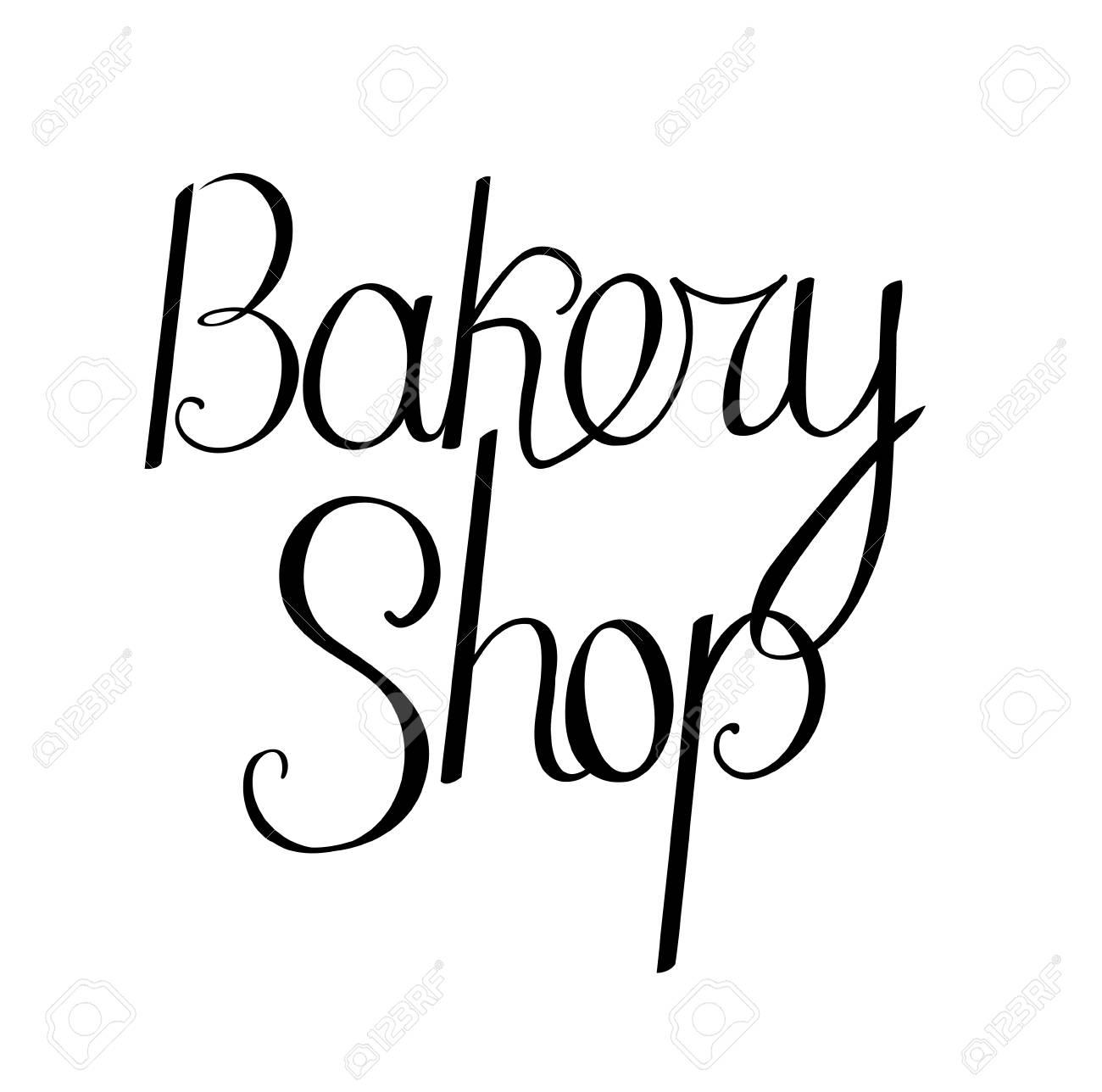 Panadería Frase De La Tienda Aislada Sobre Fondo Blanco Para Su Diseño Anuncios Carteles Menú Del Restaurante