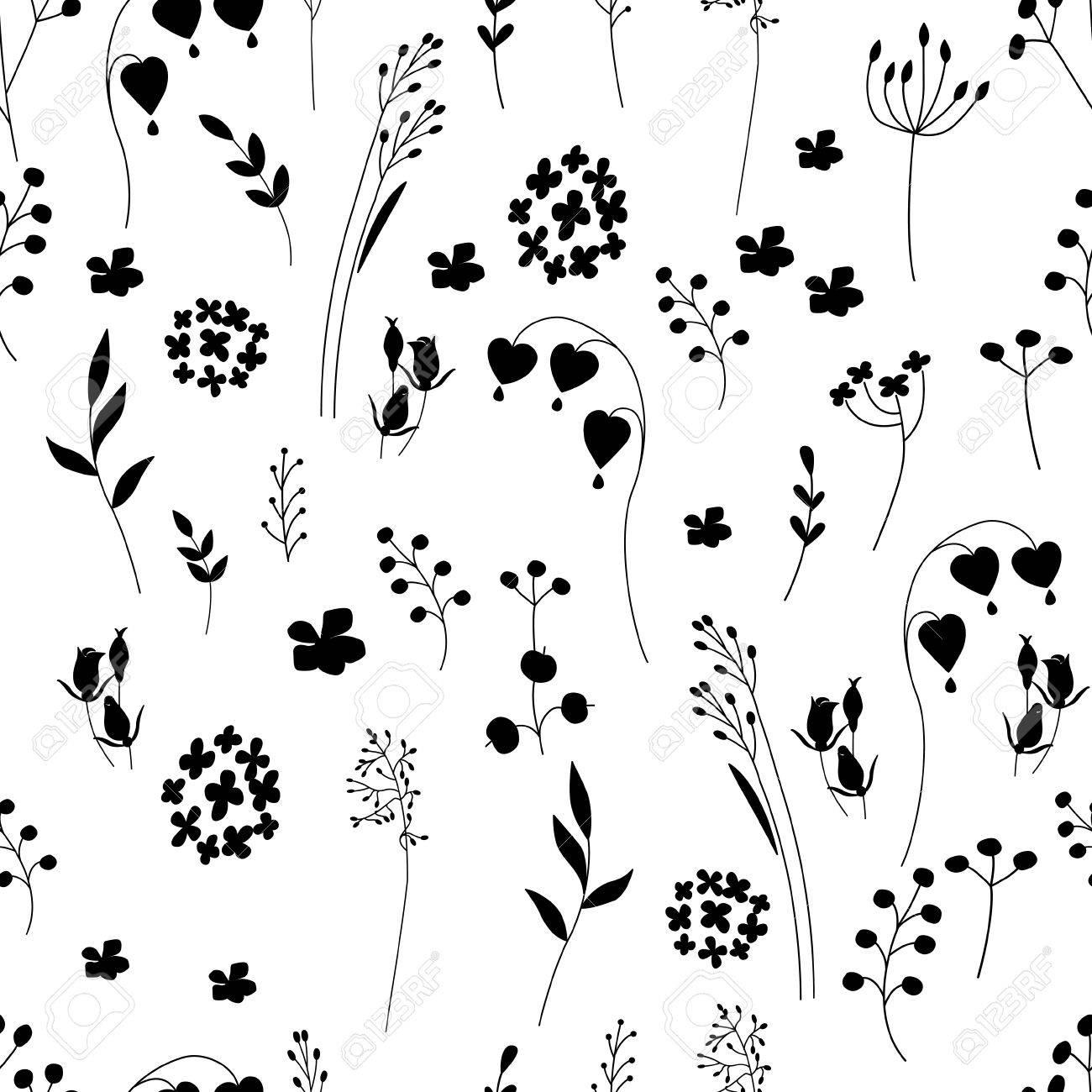 Disegni Stilizzati Bianco E Nero Fiori