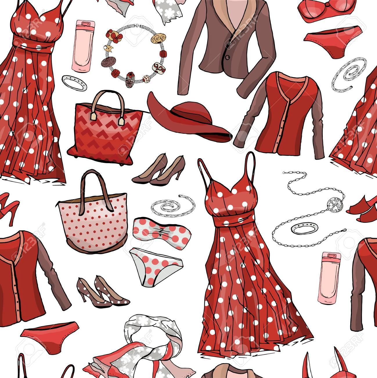 714048a83e Patrón Sin Fisuras Con Vestidos De Mujer