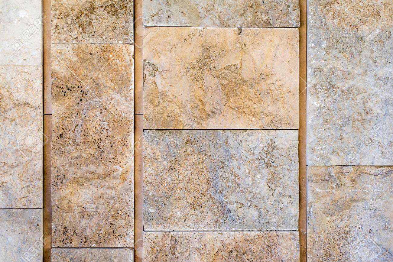 Rustic marble wall in block background - 115023878