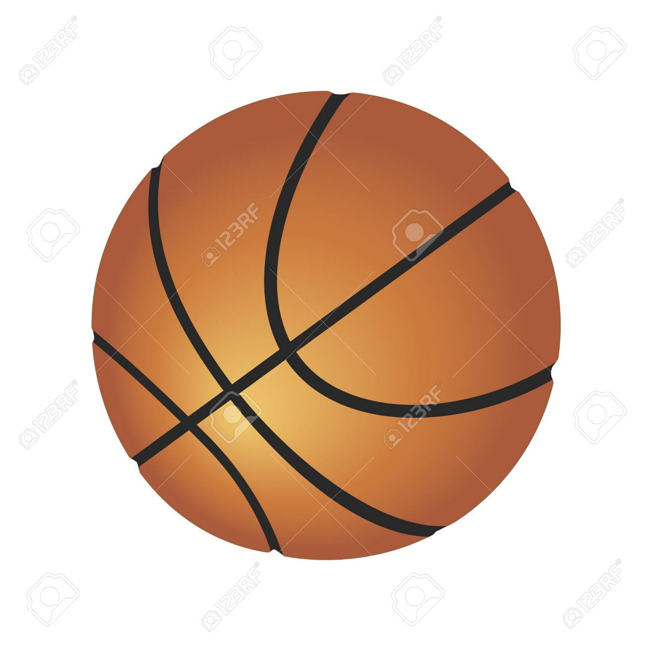 Ball For Playing Basketball Vector Illustration Isolated On White